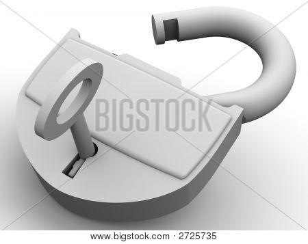 Padlock 3D
