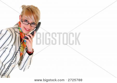 Young Businesswoman On Phone