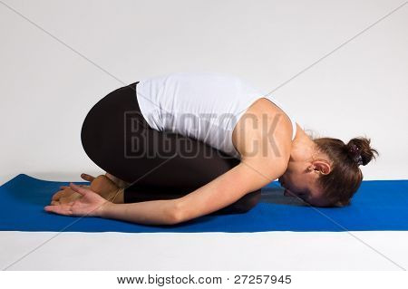 yoga girl doing exercise. 94 of 116