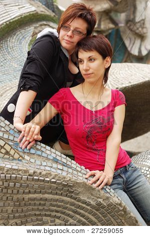 women couple outdoor
