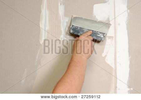 home improvement - man stop up indoor