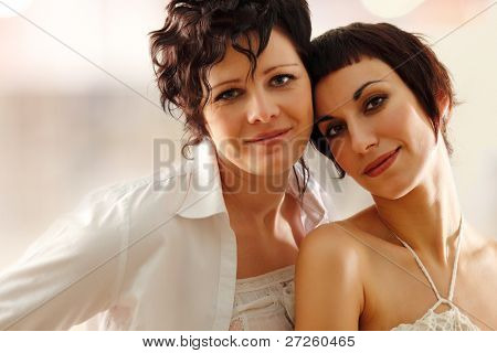 women couple happy attractive