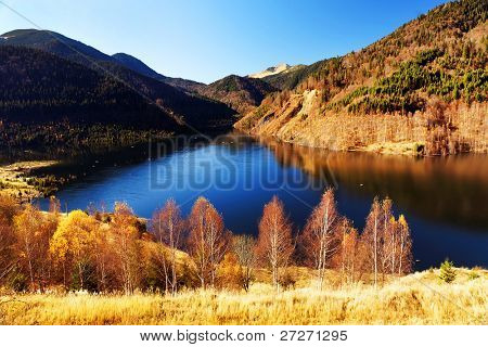 Autumn landscape in Retezat Mountains, Romania