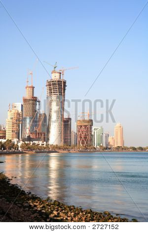 Building Boom In Doha, Qatar