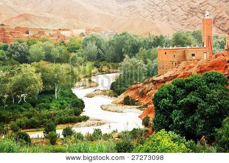 Moroccan kasbah in Dades Valley, Africa