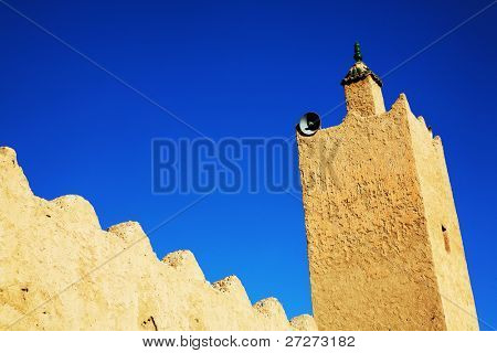 Architectural detail of a moroccan kasbah