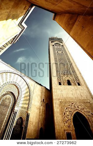 Hassan II Mosque, Casablanca, Morocco, Africa