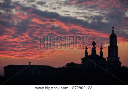 Silhouette Of The Church Of