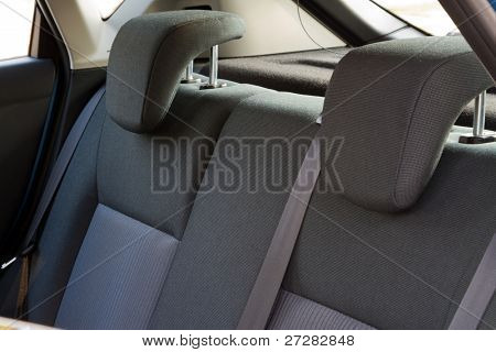 Car interior - back car seats with active headrest