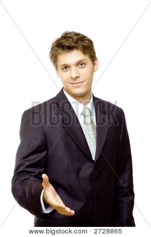 Young Businessman Waiting For Handshake