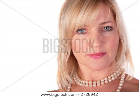 Middleaged Woman Close-Up