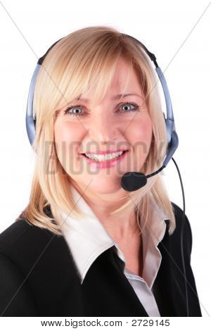 Middleaged Woman With Headset 3
