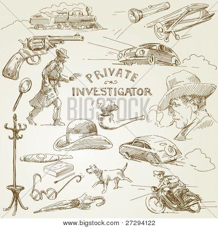 private investigator - hand drawn collection