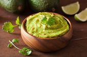 mexican guacamole dip and ingredients poster