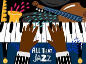 Jazz Piano Poster. Blues And Jazz Rhythm Musical Art Festival, Vintage Music Band Concert Poster Tem poster