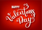 Happy Valentines Day Hand Drawing Vector Lettering Design. Valentines Day Vector Handwritten Text Gr poster