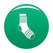 Boy Sock Icon. Simple Illustration Of Boy Sock Vector Icon For Any Design Green poster