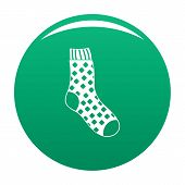 Cotton Sock Icon. Simple Illustration Of Cotton Sock Vector Icon For Any Design Green poster