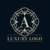 Luxury Logo, Classic And Elegant Designs For Industry And Business, Interior Logo, Spa And Beauty Sa poster