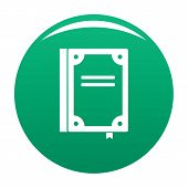 Book Publication Icon. Simple Illustration Of Book Publication Icon For Any Design Green poster