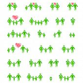 stock photo of hetero  - family concept icons vector set - JPG
