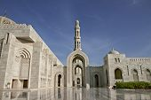 Oman. Great Mosque Of Sultan Qaboos Great Mosque Of Sultan Qaboos In Muscat - The Third Biggest Mosq poster
