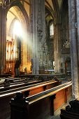 Divine light in Saint Stephen Cathedral, Wien