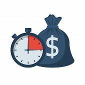 Quick Credit. Fast Money. Bag Of Money And Stopwatch. Loan In A Short Time. Business And Finance. Ti poster