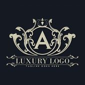 Illustration Of Luxury Logo, Classic And Elegant Logo Designs For Industry And Business, Interior Lo poster