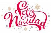 Feliz Navidad Text Merry Christmas Translation From Spanish poster