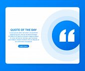 Quote Background Vector. Creative Modern Material Design Quote Template. Text Lettering Of An Inspir poster