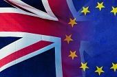 Brexit Concept Image Of London Image And Uk And Eu Flags Overlaid Symbolising Agreement And Deal Bei poster