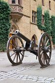 Medieval Cannon, Hohenzollern Castle, Germany poster