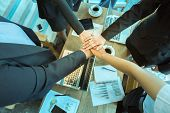 Business Trust Commitment Which Business Partners Holding Hands With Help, Trust ,support ,empathy A poster