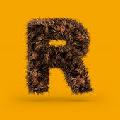 Uppercase Fluffy And Furry Font Made Of Fur Texture For Poster Printing, Branding, Advertising. Lett poster