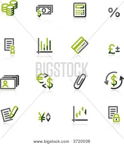 Green-Gray Finance Icons