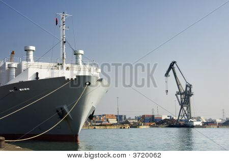 Ship In Dock