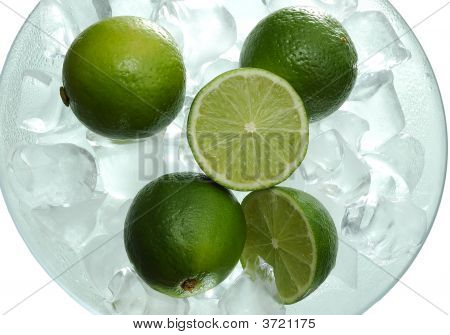 Lime In Saucer With Ice