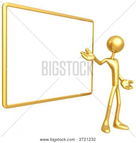 3D Figure With Blank Sign