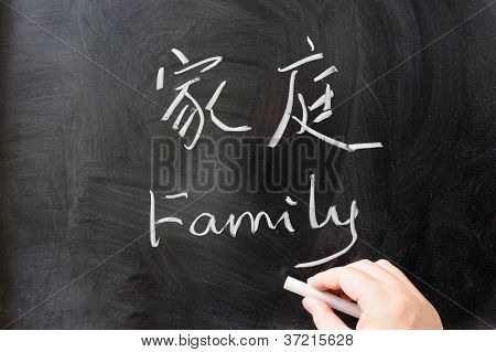 Family Word In Chinese And English