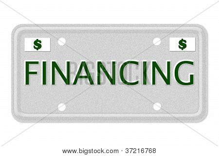Financing Car  License Plate