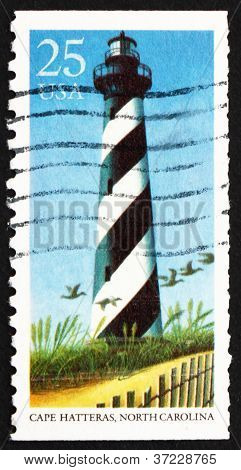 Postage stamp USA 1990 Cape Hatteras, North Carolina, Lighthouse
