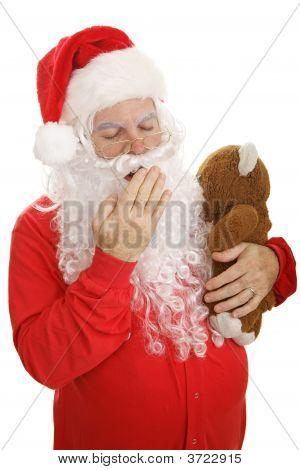 Sleep Santa Yawns