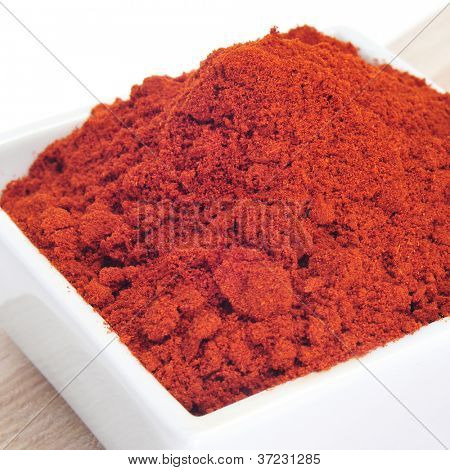 closeup of a bowl full of colorful paprika