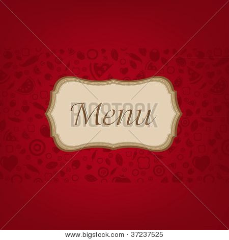 Dark Red Background With Menu