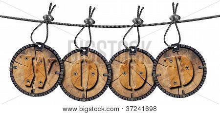 Written Wood Circular Tags