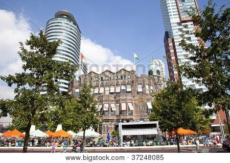 Rotterdam, The Netherlands - 8 September 2012: View At Historical Building Holland Amerika Lijn At I