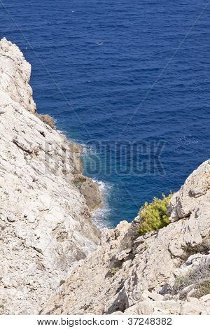 Beautiful Riffs Rock Stone Sea Ocean In Summer