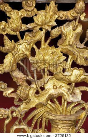 Nyonya Gilded Lotus Carving