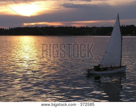 Sailing Against Sunset